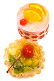 Sweet cakes with fruit Stock Images