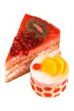 Sweet cakes with fruit Stock Photo