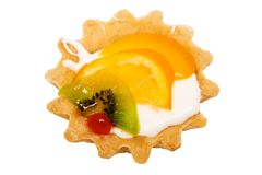 Sweet cakes with fruit Royalty Free Stock Photo