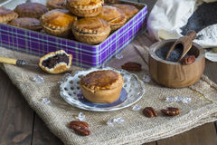 Sweet cakes with poppy seed and nut filling Royalty Free Stock Photo