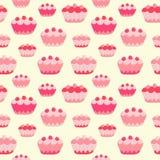 Sweet cakes seamless background. Stock Photo