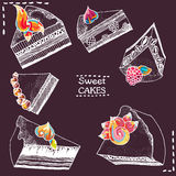 Sweet cakes Royalty Free Stock Image