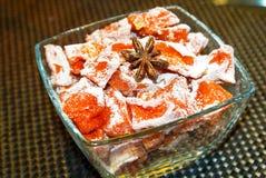 Sweet Candied Cumpkin with Cinnamon Stock Photo