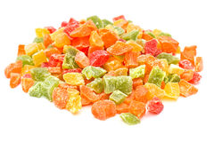 Sweet candied fruits Stock Images