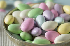 Sweet Candied Jordan Almonds Stock Photo