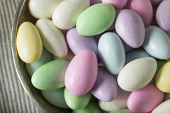 Sweet Candied Jordan Almonds Royalty Free Stock Photo