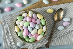 Sweet Candied Jordan Almonds Stock Images