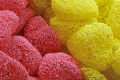 Sweet candies. Sweet and soft candies all covered of sugar Stock Photos
