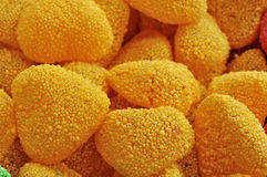 Sweet candies. Sweet and soft candies all covered of sugar Stock Photo