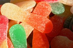Sweet candies. Sweet and soft candies all covered of sugar royalty free stock images
