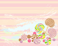 Sweet candies background Royalty Free Stock Image