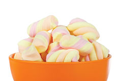 Sweet candies in ceramic cup Stock Images
