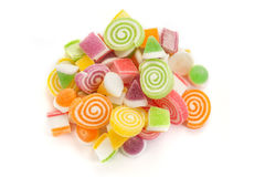 Sweet candies. Colorful sweet candies on white background stock images
