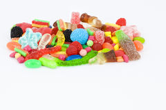 Sweet candies with copy-space. Collection of multicolored sweets with copy-space Royalty Free Stock Photos