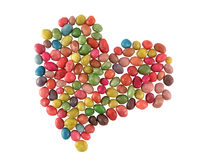 Sweet candies heart Royalty Free Stock Image