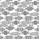 Sweet candies set. Monochrome Vector Seamless Pattern. Royalty Free Stock Photos