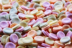 Sweet candies texture. As very nice background stock photography