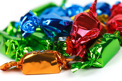 Sweet candies on the white background Stock Images