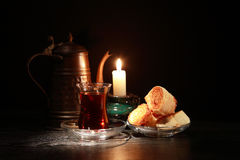Sweet And Candle stock image