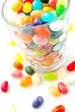 Jelly beans. The colorful jelly beans on white background Royalty Free Stock Images