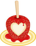 Sweet Candy Apple Love Stock Images