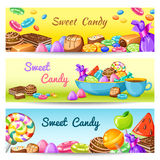 Sweet Candy Banner Set Royalty Free Stock Photo