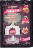 Sweet candy bar chalkboard menu design. Stock Photos