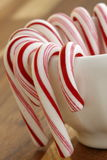 Sweet candy canes Stock Photo