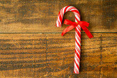Sweet Candy Canes with red ribbon Stock Photography
