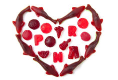 Sweet candy heart Royalty Free Stock Photo