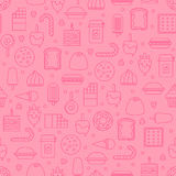 Sweet and candy icon seamless pattern. Royalty Free Stock Images