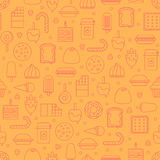Sweet and candy icon seamless pattern. Royalty Free Stock Photo