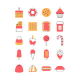 Sweet and candy icon set. Royalty Free Stock Photo