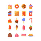 Sweet and candy icon set. Royalty Free Stock Photography
