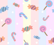 Sweet candy pattern Stock Photography
