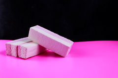 Sweet candy pop art. Black on pink background Stock Images
