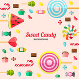 Sweet Candy Poster Stock Images