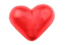 Sweet candy red heart Royalty Free Stock Photo
