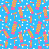 Sweet candy seamless pattern. Colorful sugar wrap. Sweet candy blue seamless pattern. Colorful sugar wrap paper. Celebration card background Royalty Free Stock Photography