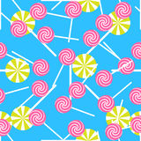 Sweet candy seamless pattern. Colorful sugar wrap Royalty Free Stock Image