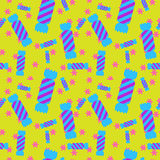Sweet candy seamless pattern. Colorful sugar wrap paper. Celebration card background Stock Photos