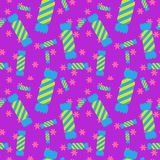 Sweet candy seamless pattern. Colorful sugar wrap Royalty Free Stock Photos