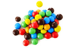 Sweet candy on white Royalty Free Stock Images
