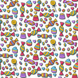 Sweet candys doodles seamless  pattern Stock Images