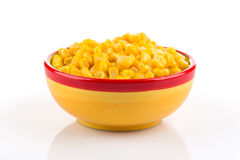Sweet canned corn in bowl Stock Photos