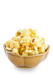 Sweet caramel popcorn in a bowl. Royalty Free Stock Photo