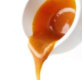 Sweet caramel sauce Royalty Free Stock Photos