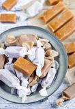 Sweet caramel toffee  caramels Stock Photos