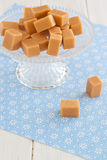 Sweet caramel toffees on an etagere Royalty Free Stock Photography