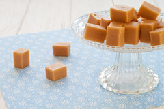 Sweet caramel toffees on an etagere Stock Photo